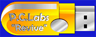PC-Labs Bootable USB with Antivirus and Disk and File Recovery tools.